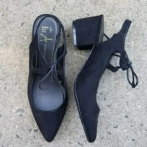 Shoes - Faux Suede Heels