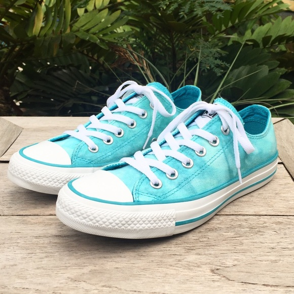 797f109c Converse Shoes | Turquoise Tie Dye Chuck Taylor All Stars | Poshmark