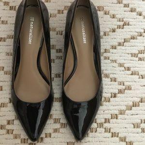 Naturalizer Shoes - Naturalizer women's shiney black pumps
