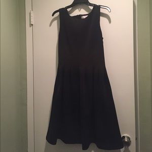 Calvin Klein black satin a line dress w/ pockets 8