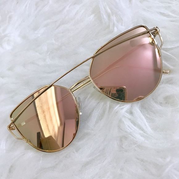93fccf26370a Sojos Sunglasses Rose Gold Metallic NIB