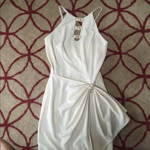 Betsy & Adam Dresses & Skirts - Betsey & Adam 90s does 40s cream faux wrap dress