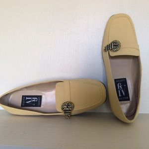 Aj Valenci Shoes - New Butter Yellow suede loafers
