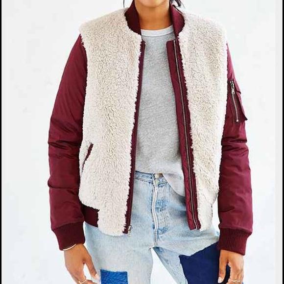 Urban Outfitters Jackets Coats Levis Sherpa Varsity Bomber