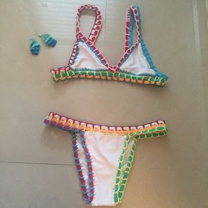 KIINI Other - New Crochet Knit Kiini Style Bikini Set-Size L