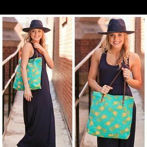Handbags - FLASH SALE PINEAPPLE CANVAS TOTE  BAG!!