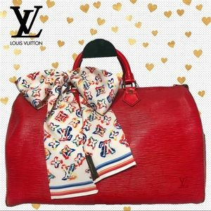 AUTHENTIC Louis Vuitton Red Epi Leather Speedy 35