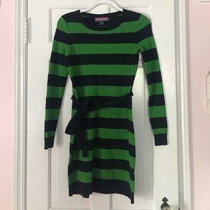 Vineyard Vines Navy and Green Dress
