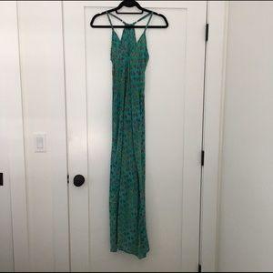 Tolani Dresses & Skirts - Tolani Turquoise Floral Maxi Dress