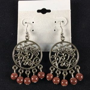 Jewelry - New Brown and Silver Dangle Earrings