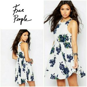 HP! Free People Flutterby Floral Print Dress