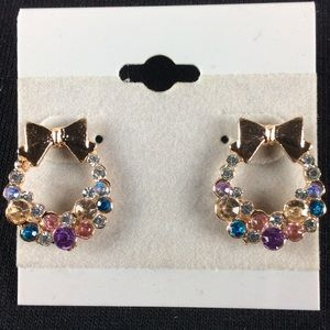 Jewelry - New Colorful Bow Earrings
