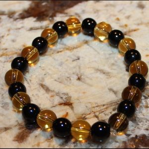 NWT UCF/Steelers Black & Gold Fan Bracelet Cause