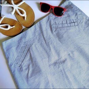 Grace Dresses & Skirts - Grace Seersucker Stripe Preppy Mini Skirt