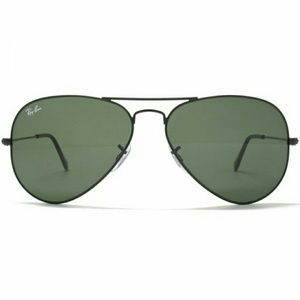 Ray-Ban Accessories - Ray-Ban Aviator Sunglasses Black With G-15 Lenses