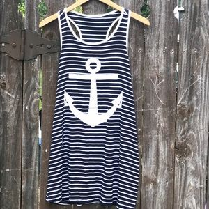 12 Pm By Mon Ami Dresses & Skirts - Nautical Anchor Tank Dress