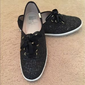 kate Spade x  Keds  New York glitter sneakers
