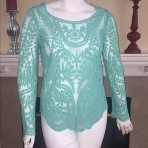 Tops - Gorgeous mint green lace too.