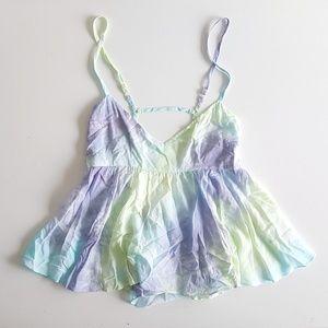 Millau Tops - NWT LF Millau Dusty Tie Dye Baby Doll Tank Top