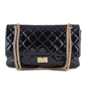 CHANEL Handbags - CHANEL Black Patent Reissue 2.55 Double Flap