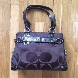 🎉HP Coach Brown Medium Signature Bag