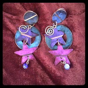 💜 Super fun vintage dangly earrings!!
