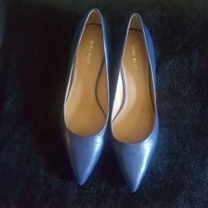 17/21 Exclusive Denim Shoes - Nine West kitten heel pump