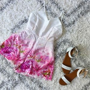 Dresses - Floral Strappy Playsuit