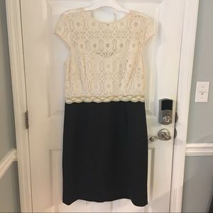 Lacey Cap-Sleeve Dress Size 18 NWOT