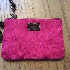 Coach Handbags - Pink coach wristlet like new