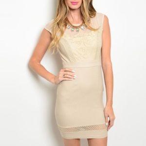 Dresses & Skirts - Pretty beige dress, NWT. I LOVE this dress! ❤️❤️❤️
