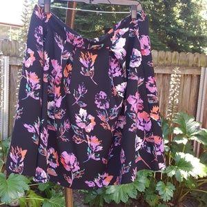 12 Pm By Mon Ami Dresses & Skirts - Purple floral skirt - PLUS 1X