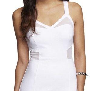Express White Cutout Cocktail Dress