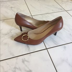 Nine West Brown Leather Heels NWOT