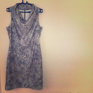 Ava & Aiden Dresses & Skirts - Ava & Aiden cowl neck silver dress