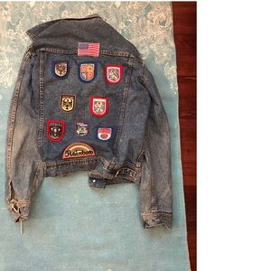 Jackets & Blazers - Vintage Patched Jean Jacket