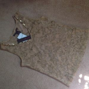 Tops - Tan tank top NWT