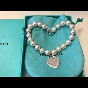 Tiffany & Co. Pearl Bracelet with Heart