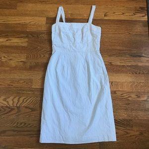 J. Crew Dresses & Skirts - J. Crew blue seersucker sleeveless dress size 0