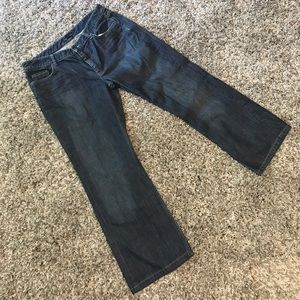 Banana Republic Denim - Banana Republic Low-Rise Bootcut Dark Wash Jeans