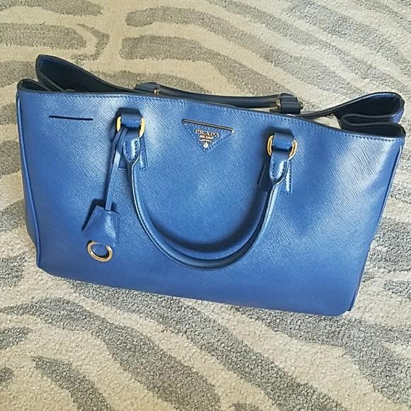 f4712c617c65 Authentic PRADA Saffiano Gardener's Tote Bluette. M_593c59a36d64bc675f01408e