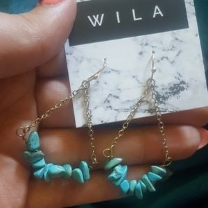 WILA Jewelry - Boho Turquoise Dangling Earrings