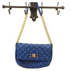 Marc Jacobs Handbags - Marc Jacobs Blue Quilted Leather Purse