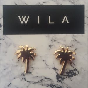 WILA Jewelry - Rose Gold-plated Palm Tree Earrings
