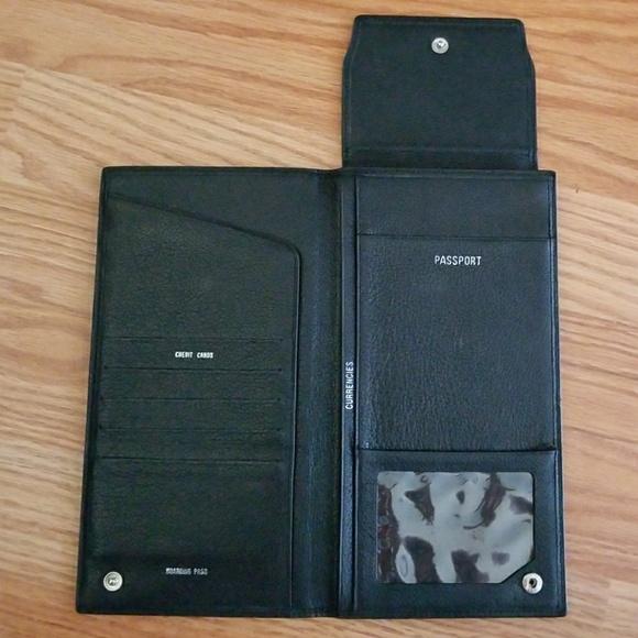 Promo Uomo Bags Pronto Uomo Leather Passport Boarding Pass Wallet