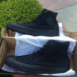 Black high top converse