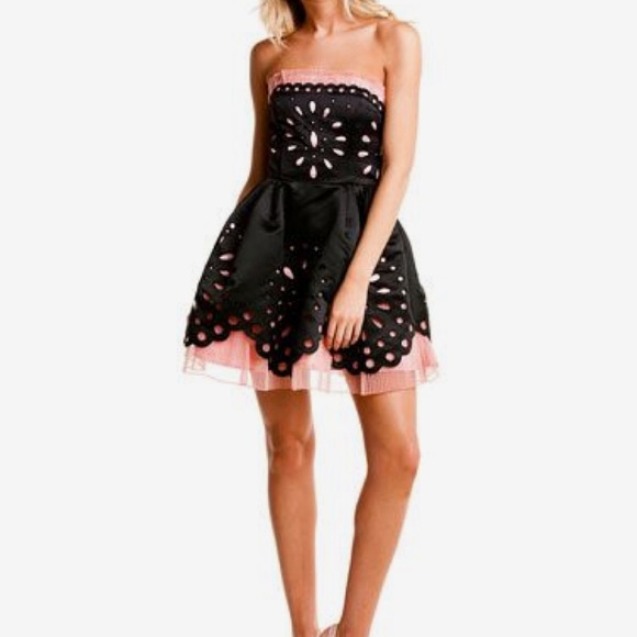 BETSEY JOHNSON Dolly Eyelet Ball Gown   Dress 💕 d9fc1725c