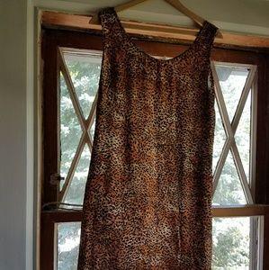 😚SALE ✔Vintage 1990S Leopard Dress