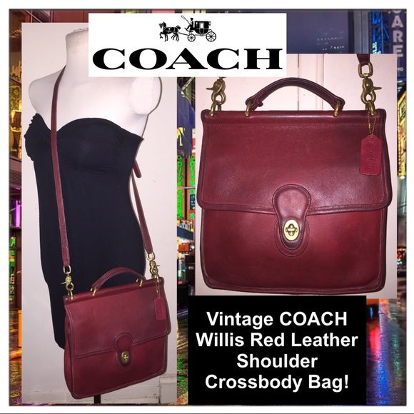 bag crossbody leather coach red hailey