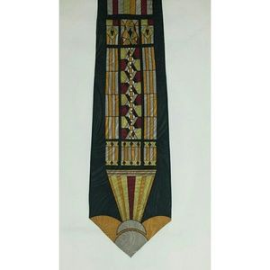 J. Blades Stained Glass Tie Pure Silk USA